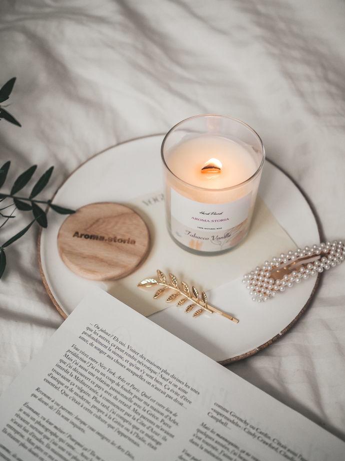 Ароматическая свеча из кокосового воска 700 мл (аромат на выбор)