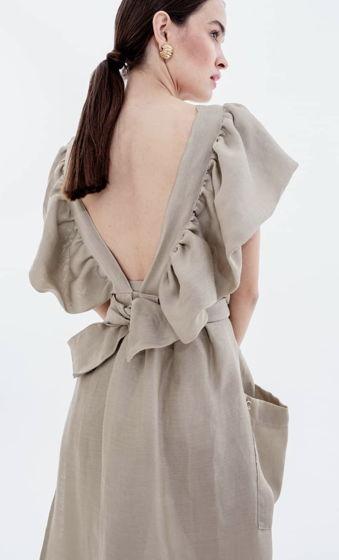 Сарафан-фартук с объемными рукавами Nude Mode