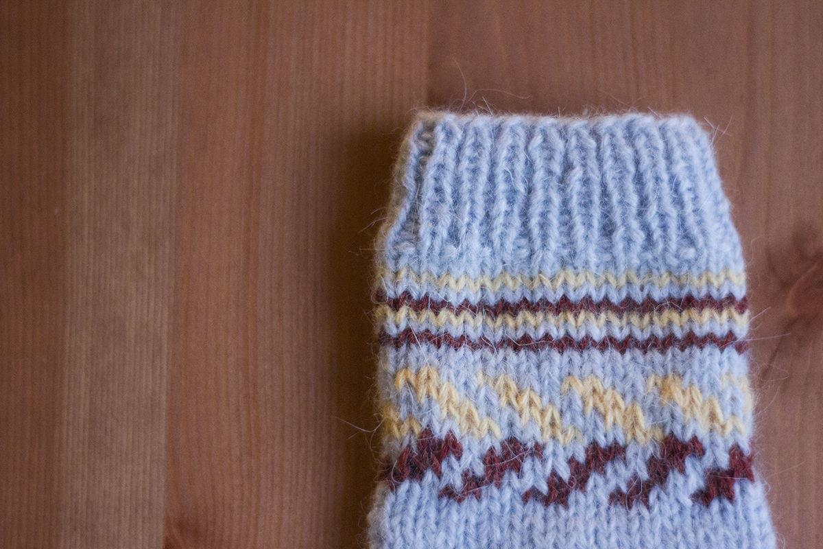Детские носки из кроличьей шерсти