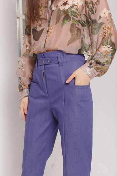 Женские джинсы DERBY из хлопка с глубокими карманами по бокам.