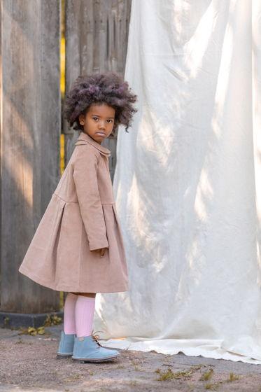 Платье для девочки вельветовое (цвет - бежевый)