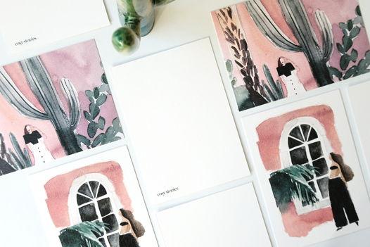 Пара открыток экзотичных, знойных