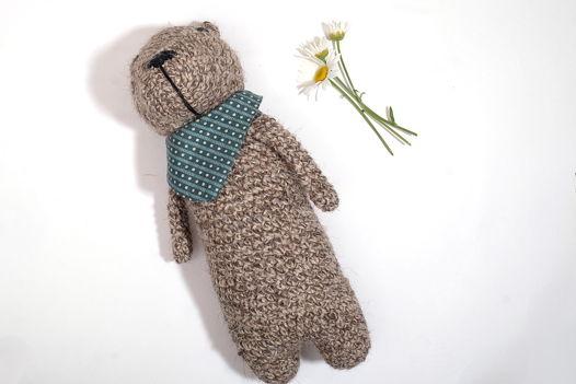 Вязаная интерьерная игрушка медведь Потапыч
