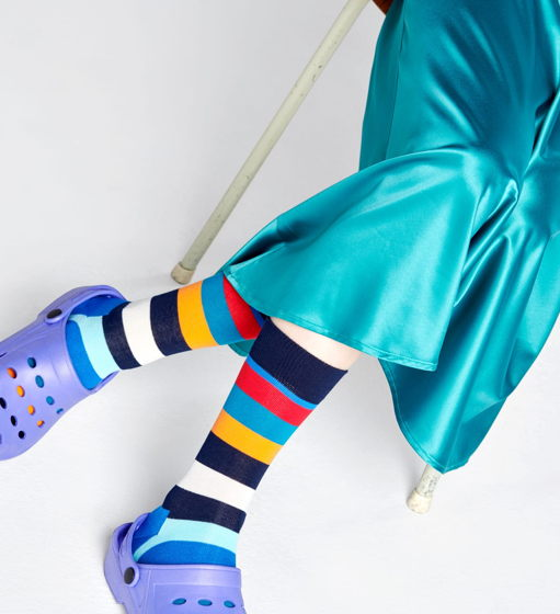 Носки в полоску Happy Socks Stripe - Multicolor