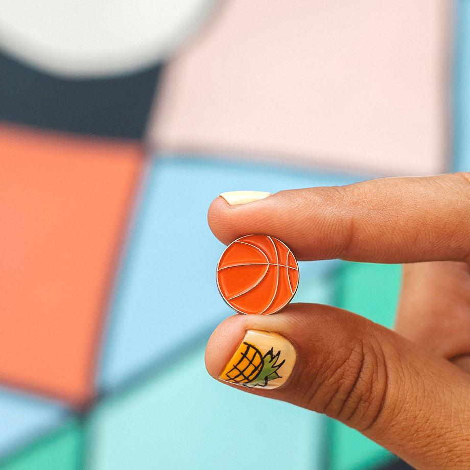 Металлический значок «мяч баскетбольный»