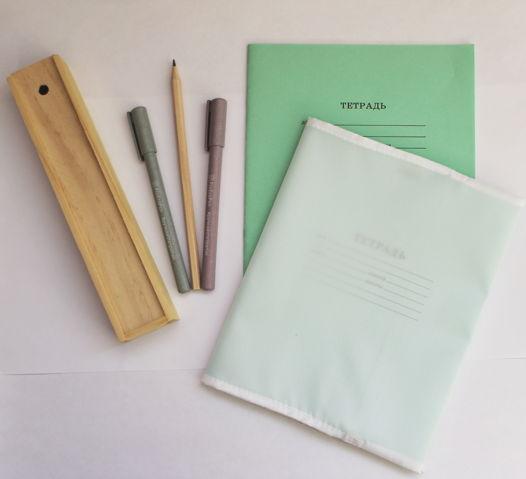 Обложки эко для тетрадей из ткани оксфорд