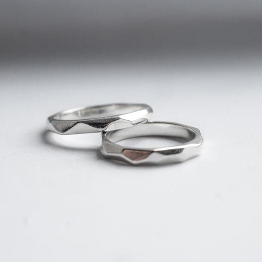 Граненые кольца обручальные