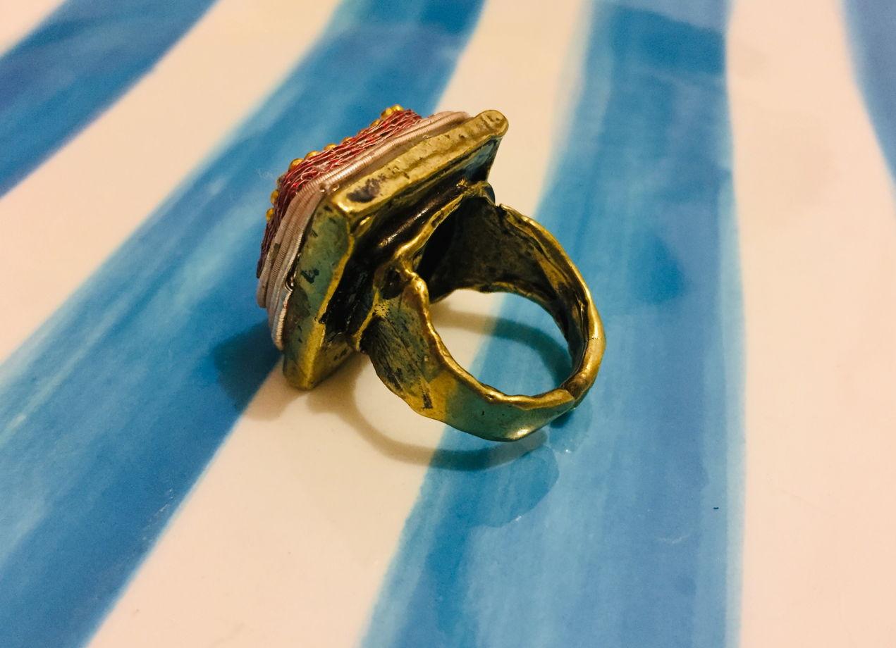Турецкое дизайнерское кольцо с варисцитом