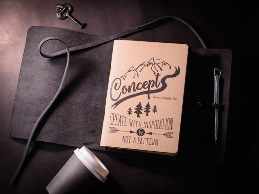 Кожаный блокнот -MYSTERY- со сменными тетрадями А5 цвет Черный Уголь