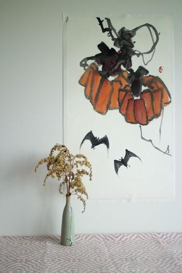 """""""Китайский Хэллоуин"""", картина в традиционном китайском стиле се-и (69 * 39 см)"""