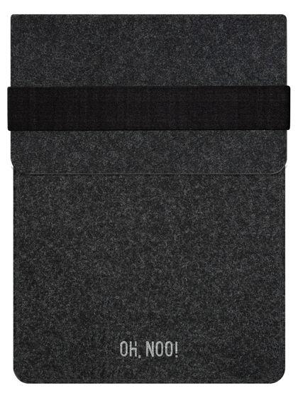 Чехол из фетра для iPad и планшетов, черный, вертикальный с крышкой