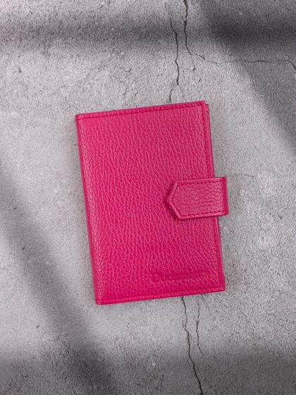 Обложка для автодокументов и паспорта Фуксия