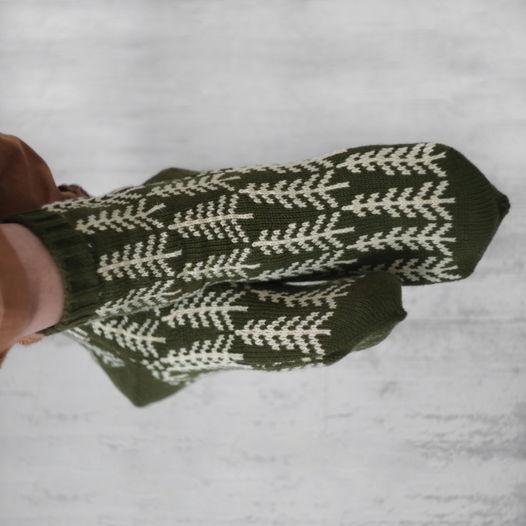 Теплые шерстяные носки с рисунком «Ёлочки»