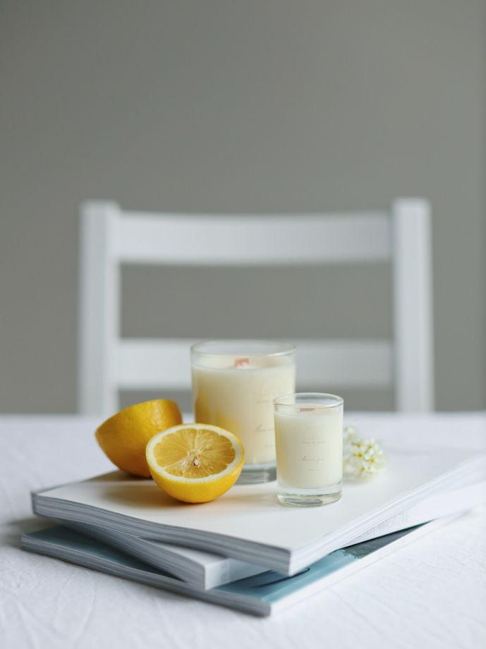 """Соевая свеча """"Лимонный пирог"""" 240 мл"""