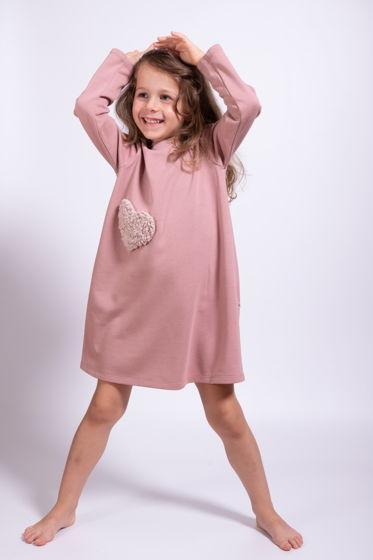 Платье розовое из мягкого футера