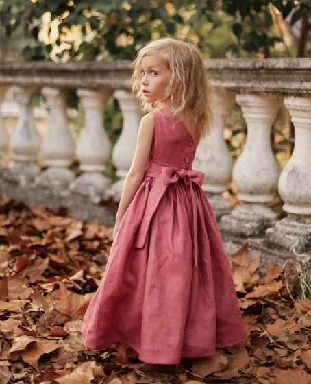 Детский сарафан с открытой спинкой БРУСНИЧНЫЙ 86-152