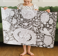 Космос большая черная раскраска для детей в подарочном тубусе
