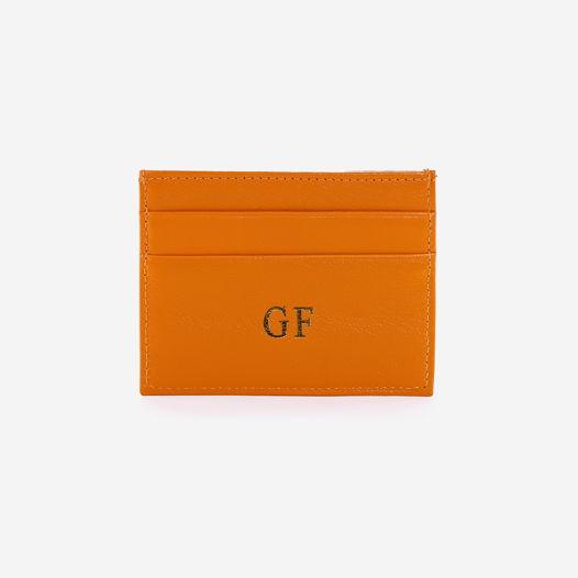 Кардхолдер оранжевого цвета с персонализацией