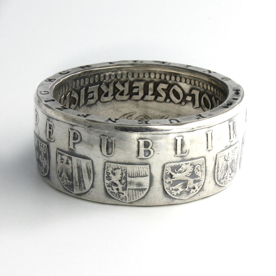 Кольцо из монеты - Австрия 50 шиллингов