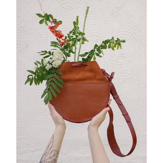 Кожаная сумка Loop Cinnamon