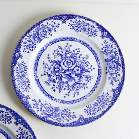 Английская фарфоровая тарелка 💙 Еnglish ironstone tableware 1960х годов