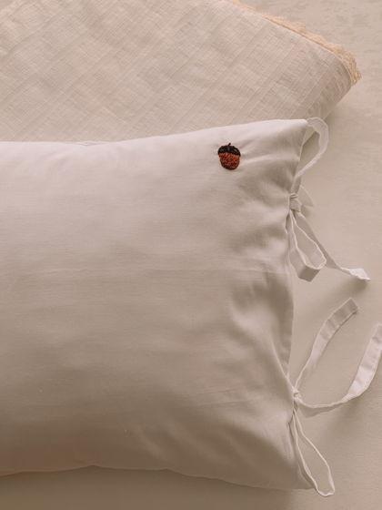 Комплект конверт-одеяло из хлопка, наволочка с ручной вышивкой