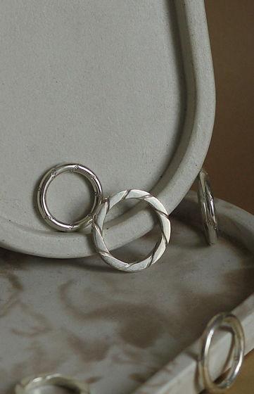 Серебряное кольцо Square Spiral