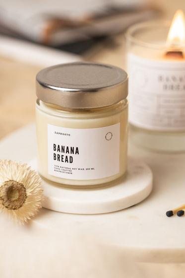 """Соевая свеча в банке """"BANANA BREAD"""""""