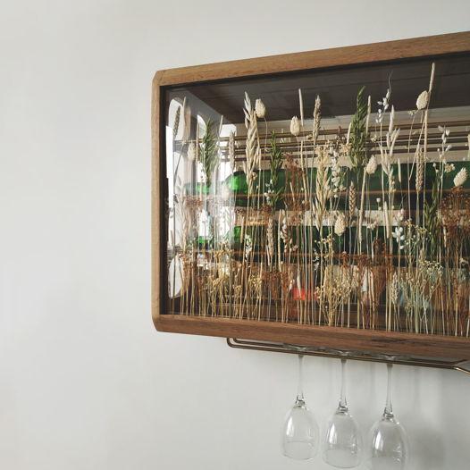 """Подвесной винный ящик """"Vinishko Tyan"""" из массива дуба на 8 бутылок (Удлиненный)"""