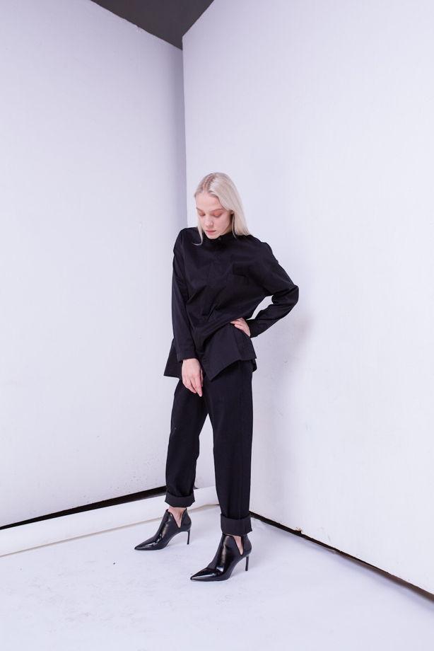 Идеальная чёрная рубашка/блузка