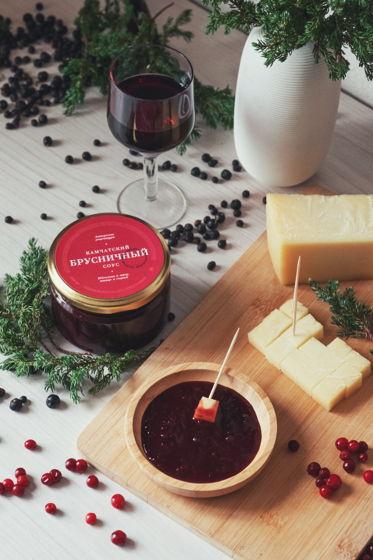 Камчатский брусничный соус с вином и можжевельником