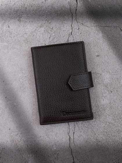 Обложка для автодокументов и паспорта Горький шоколад