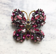 Винтажная брошь-бабочка от Joan Rivers