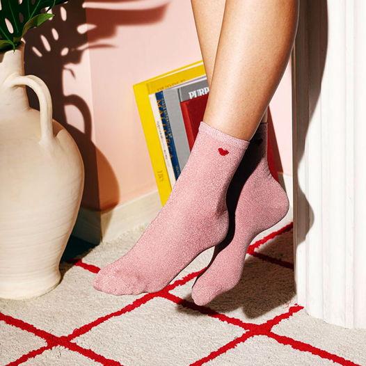 Носки в форме сердца DOIY Heart Socks - Pink