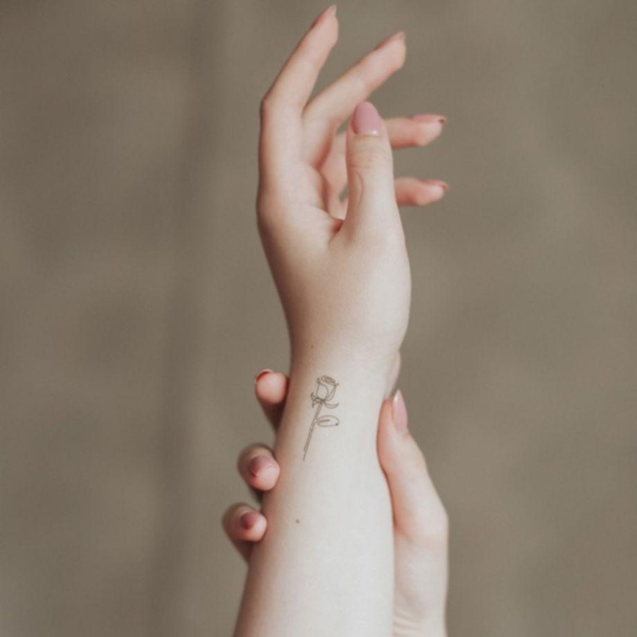 """Временные переводные татуировки MimiToo """"Линии"""" для детей и взрослых"""