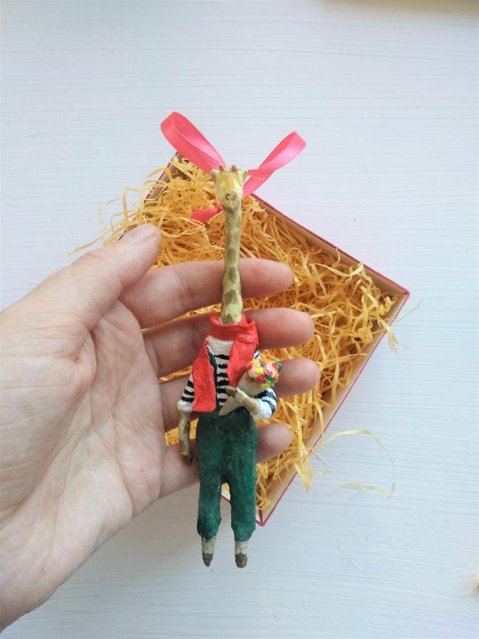 """Ёлочная игрушка """" жираф"""""""