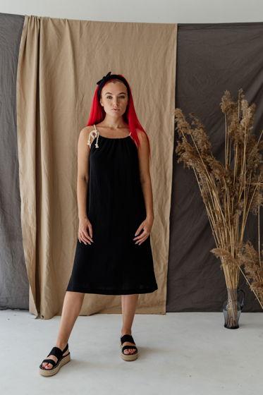 Платье из двухслойного муслина