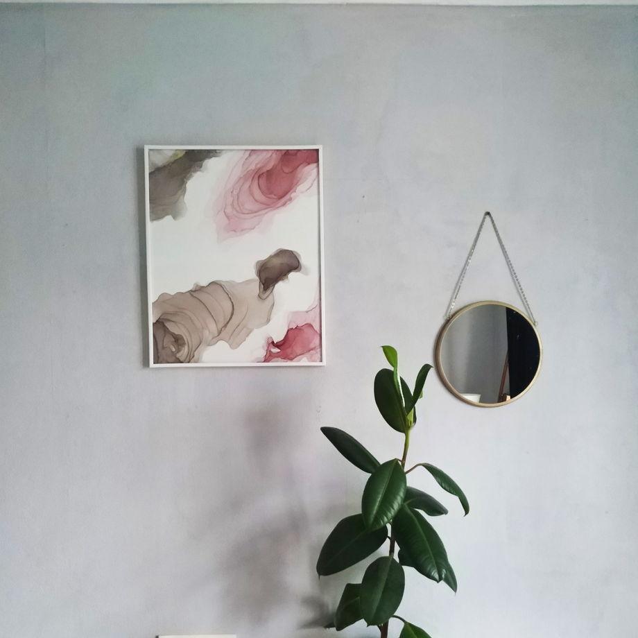 "Интерьерная картина ""Розовая дымка"""