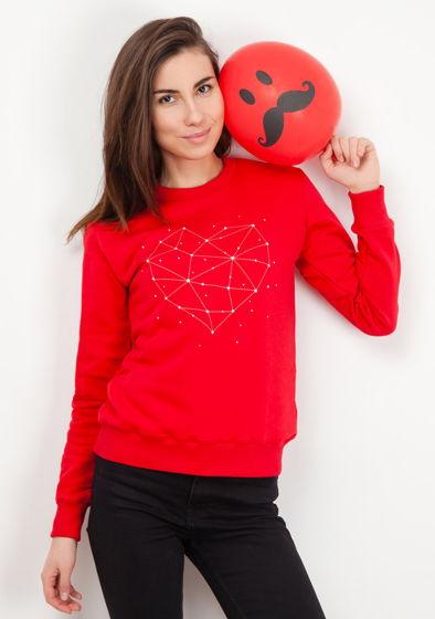 Красный свитшот «Сердце»
