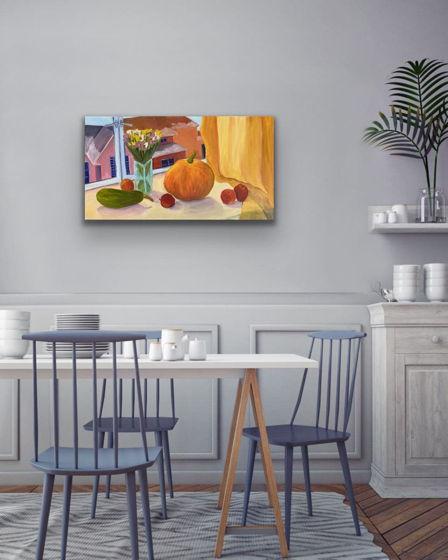 Картина маслом на холсте, натюрморт, 2019 год