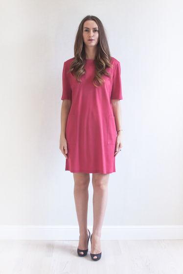 Платье футболочное с накладными карманами