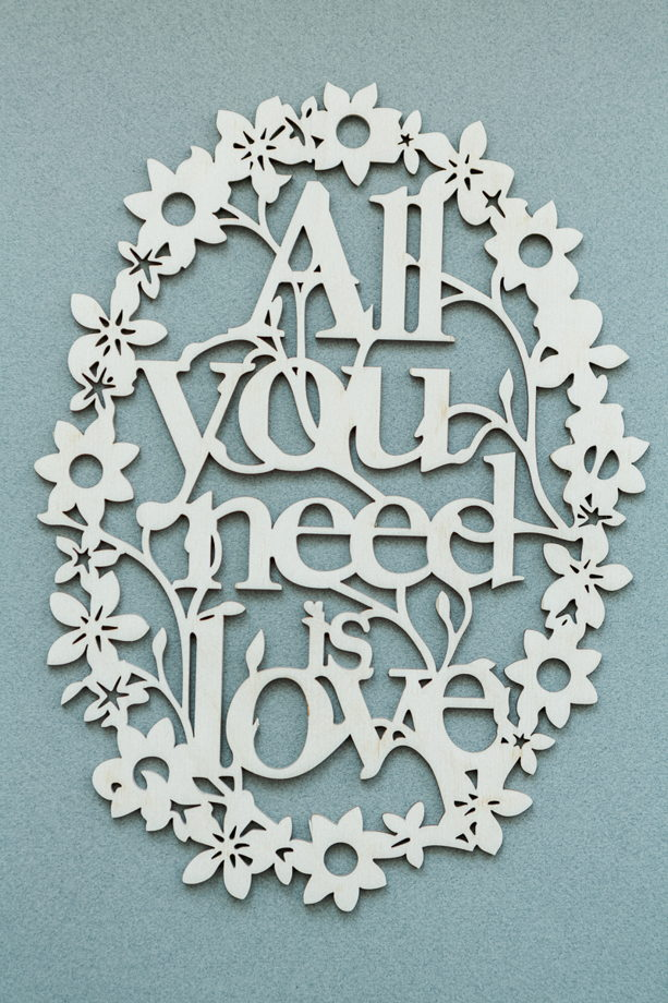 All you need is love Декоративное панно