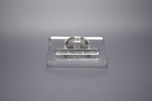 Плоское кольцо с надписью на латыни