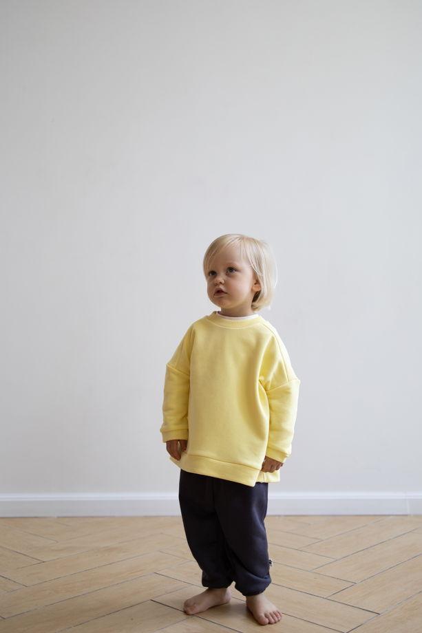 Свитшот желтый унисекс